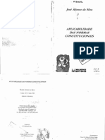 Jose Afonso Da Silva Aplicabilidade Das Normas Constitucionais