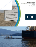 City of Vancouver oil spill presentation