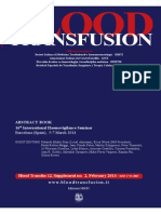 Blood Transfusion Abstract and Papers