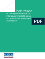 Joint Declarations of OSCE