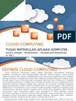 Tugas Aplikasi Komputer Cloud Computing