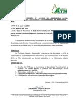 Edital de Convocação  n°001-2015