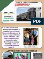 Informe Misionero Popayan Primer Trimestre 2015