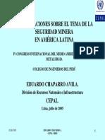 Conferencia Eduardo Chaparro - Cepal