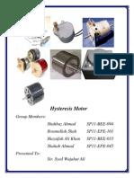 Hysteresis Motor