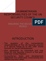 The Humanitarian Responsibilities of the Un Security