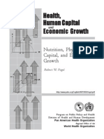 Nutrition, physiological capital and economic growth