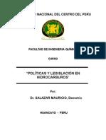 """Polã-ticas y LegislaRJNMR5ciã""""n en Hidrocarburos"""