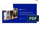 Windows Server 2012 Technical Overview - Manageability and Automation Student Manual