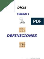 Definiciones (fasciculo 1) Sobre la ley de seguridad vial con bicicletas en España
