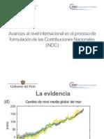 Avences al nivel internaiconal en el proceso de la Contribuciones Nacionales (iNDC)