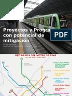 Proyectos y Programas con potencial de mitigación