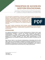 LECT de PROFUND N 1 Cuatro Principios de Accion en La Gestion Educacional