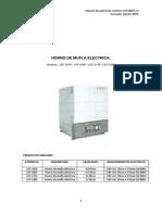 Manual en Español Mufla Electrica