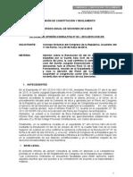 JDC. Com Constitucion. Informe Sobre Orden Judicial