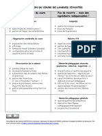 Fiche Observation Cours LV