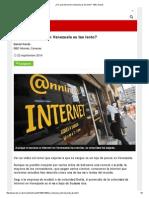 ¿Por Qué Internet en Venezuela Es Tan Lento_ - BBC Mundo