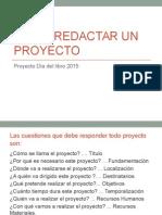 Cómo Redactar Un Proyecto