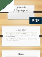 Vícios de Línguagem