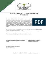Acta de Cierre Licitación-01-2015