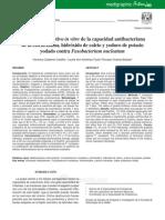 Estudio comparativo in vitro de la capacidad antibacteriana de la clorhexidina, hidróxido de calcio y yoduro de potasio yodado contra Fusobacterium nucleatum