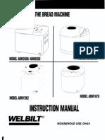 Complete Welbilt Bread Machine Manuals