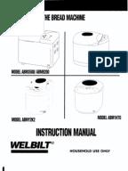 welbilt bread machine abm 100 3 recipe book