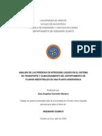 Análisis de Las Pérdidas de Nitrógeno Líquido en El Sistema de Transporte y Almacenamiento Del Departamento de Fluidos Industriales de Una Planta Siderúrgica