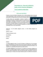 Plan Estudios Fisica Condensada Sistemas Biologicos