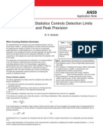 Application Note AN59 Counting Statistics Controls Detection Limits Peak Precision