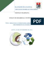 Impactos y Condiciones Ambientales Del Creciemiento Economico