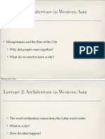 Lecture 3 Architecture in Western Asia