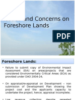 Issues and Concerns on Foreshore