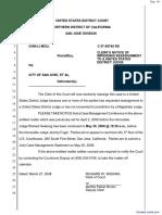 Mou v. City of San Jose et al - Document No. 16
