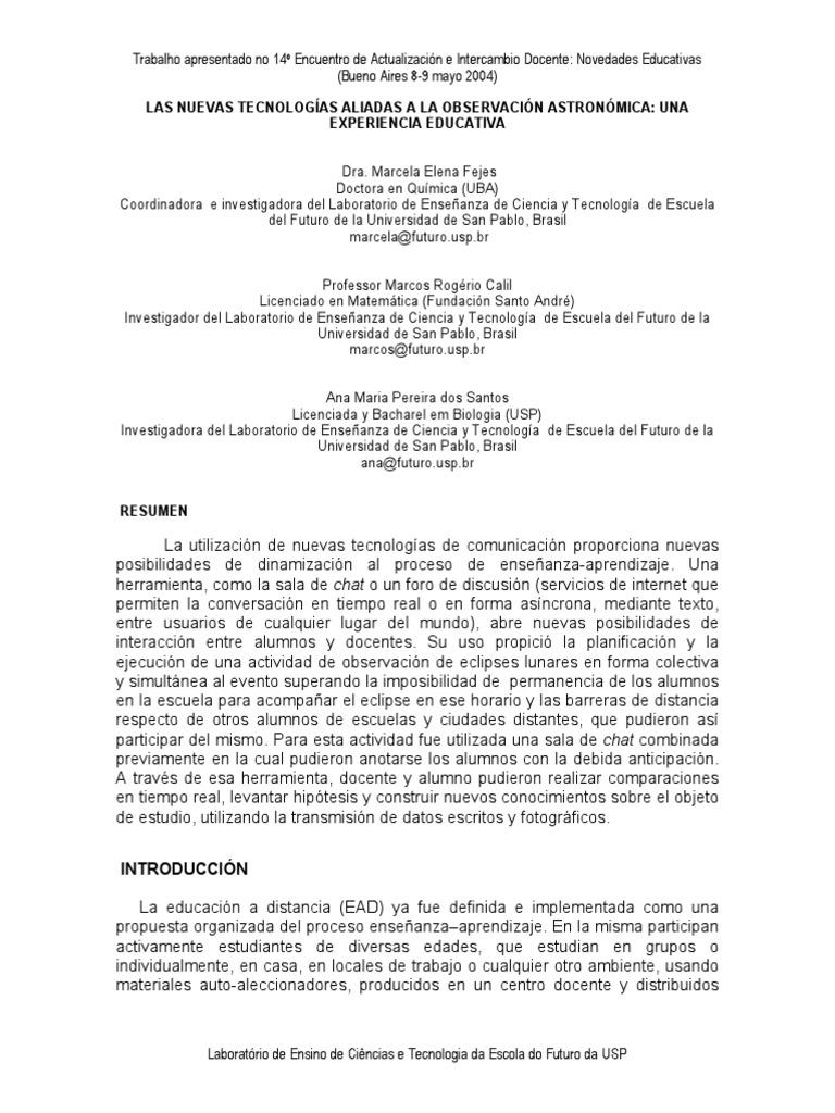 LAS NUEVAS TECNOLOGÍAS ALIADAS A LA OBSERVACIÓN ASTRONÓMICA