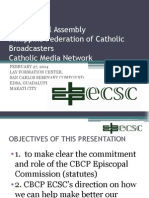 Presentation of the Ecscmm Plan 2014-15 Radio Broadcast