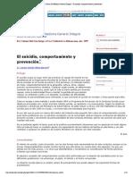 Revista Cubana de Medicina General Integral - El suicidio, comportamiento y prevención