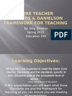 idaho core teacher standards & danielson framework