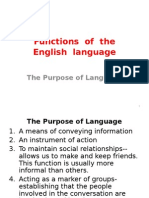 Functions of the English Language
