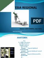 Anestesia Regional Y Local Jc