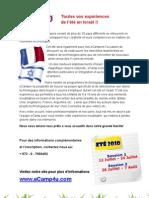 eCamp - French flyer about camp de vacances de hi-tech en Israel