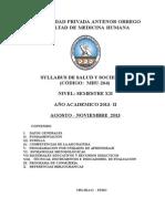 Silabo de Salud y Sociedad v 2013 II