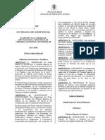 Poder Judicial de Córdoba- Ley Org. 8435