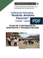 Plan de Contingencia de la I.E. Andrés A. Cáceres