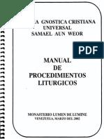 Manual de Pocedimientos Liturgicos
