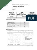 Plan Anual Matemática Tercero Bachillerato