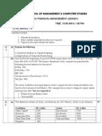 Sfm Mid Sem Test Paper Set b