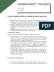 Tipos de Investigación y Diseño de Investigación