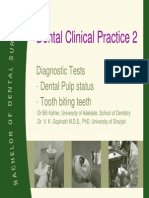 Diagnostic Tests  in dentistry