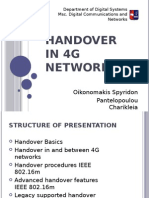 Hand Over in 4G/LTE Networks